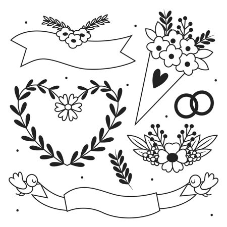 手绘婚礼饰品系列