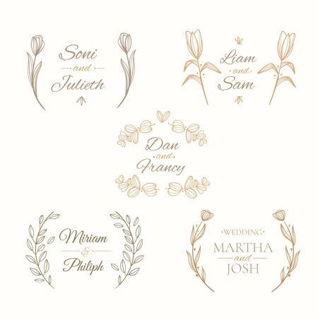 线性平面婚礼花押收集