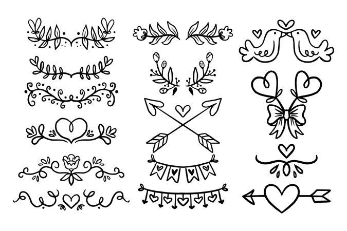 线性平面婚礼饰品系列