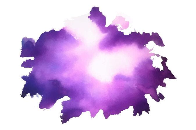 紫色抽象水彩染色纹理背景
