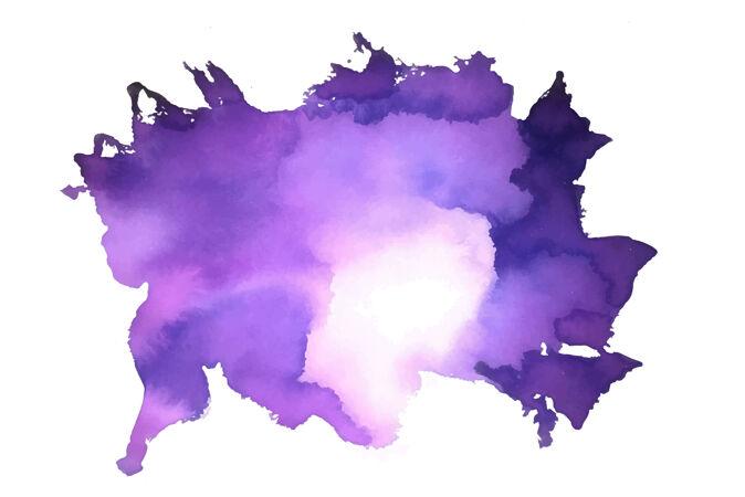 紫色抽象水彩染色纹理