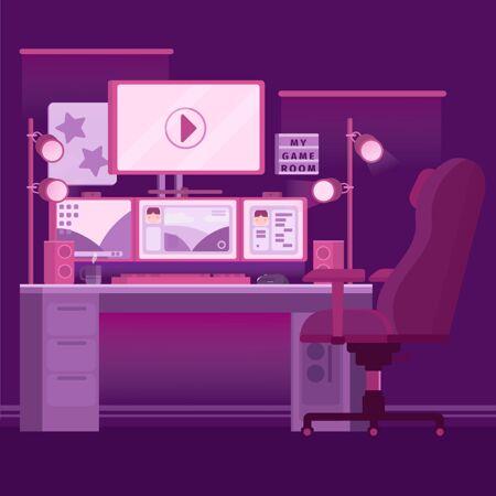 有机平面游戏室插图