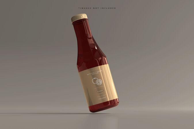 番茄酱或酱汁瓶模型