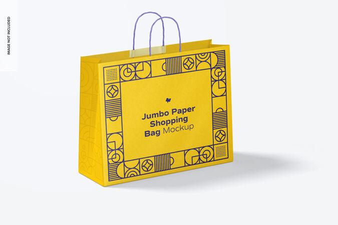 巨型纸袋购物模型
